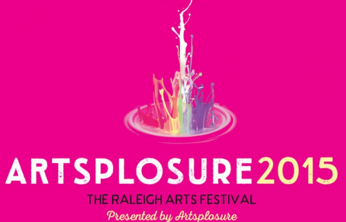 Artsplosure 2015 Logo Of Bright Pink And A Rainbow Paint Drop