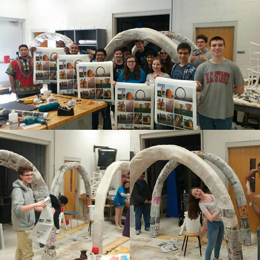 Robotics Team Students Create Replicas Of Thomas Sayre Sculptures For Artsplosure's Art Putt Mini-Golf Course