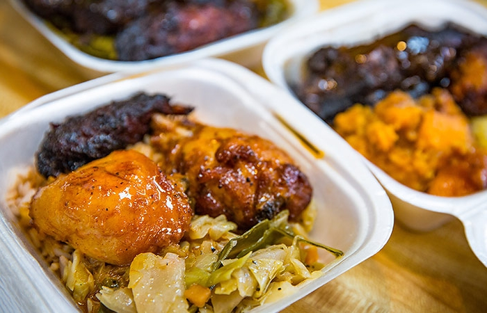 Lees Kitchen Global Eats - Food In Take-out Containers