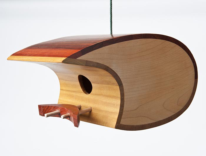 Mark Ellis Wood birdhouse
