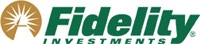 Fidelity Investments Logo - Gold pyramid graphic with green type on right