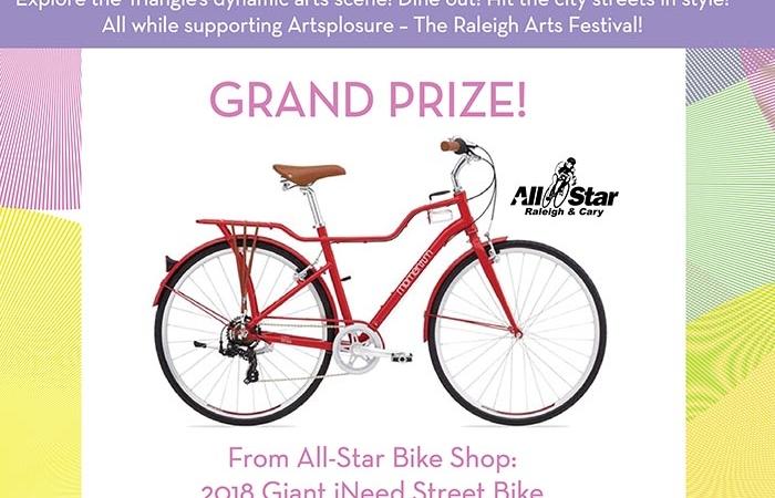 Artsplosure Spring Raffle Print Flyer Showcasing Grand Prize