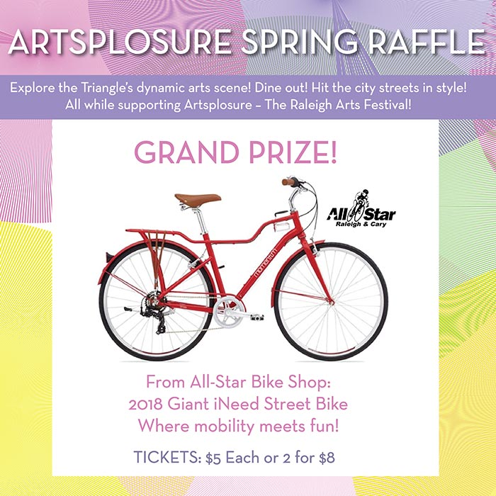 Artsplosure Spring Raffle Print Flyer Showcasing Grand Prize