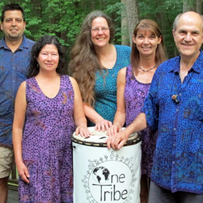 Members of One Tribe Drum Circle