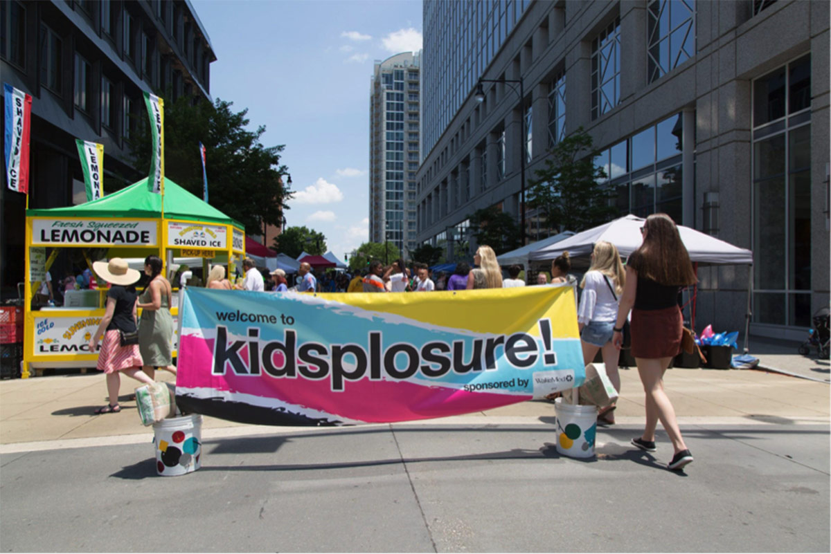 Kidsplosure sign at Artsplosure event